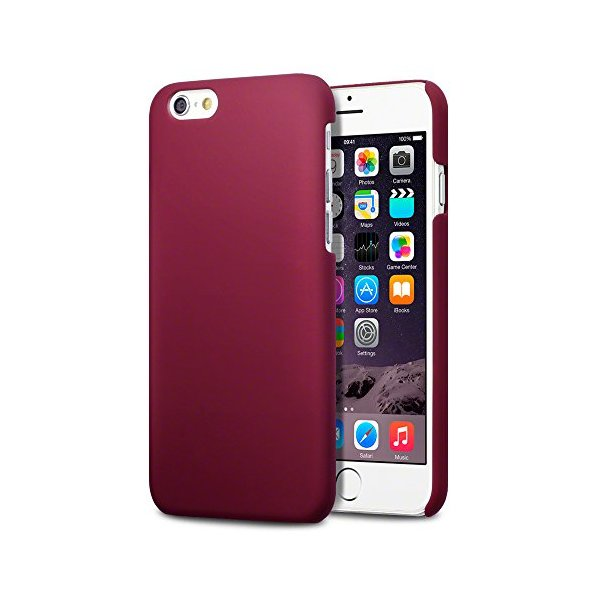"iPhone 6 Case, Terrapin [Extra Slim Fit] Hybrid Rubberized Protective Hard Case for iPhone 6 (4.7"") (Solid Red)"