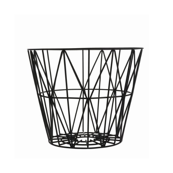 FERM LIVING 3066 Large Wire Basket - Black