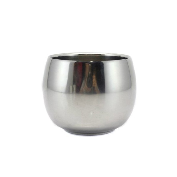 Eforcase Stainless steel cup /creative coffee cup/ drum type cup /white wine cup mini cup /children's cup Durable Shave Soap Cup Shinning Stainless Steel Shaving Mug Bowl
