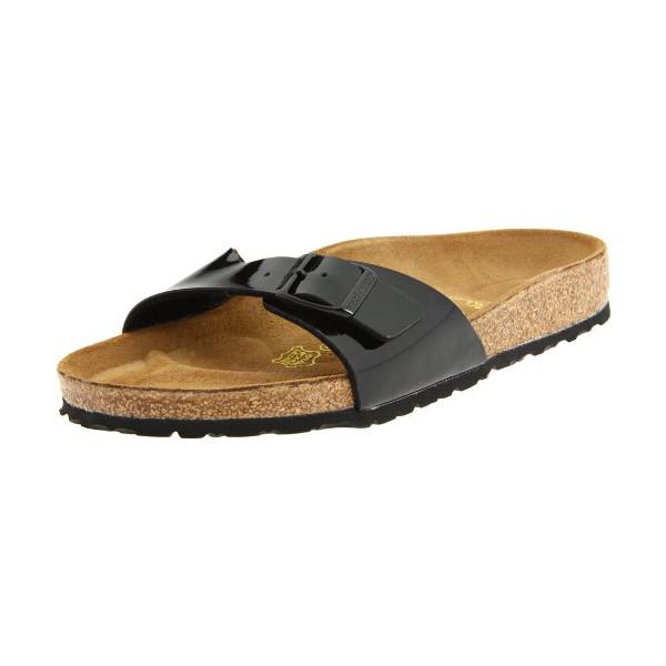 Birkenstock Women's Madrid Sandal,Black Patent,38 N EU