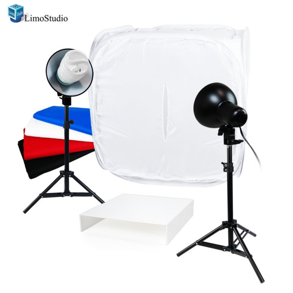 "LimoStudio Table Top Photo Studio Light Tent Kit, 24"" Photo Light Box, Continous Lighting Kit, AGG1067"