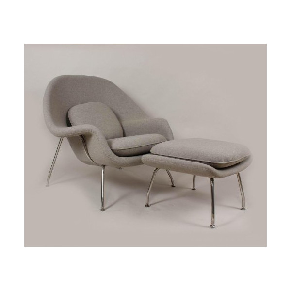 Control Brand Mid Century Womb Chair and Ottoman