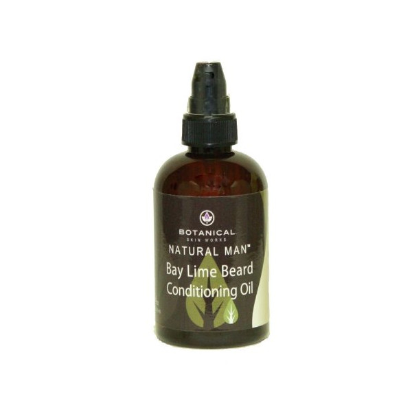 Botanical Skin Works: Bay Lime Beard Conditioning Oil, 4 oz