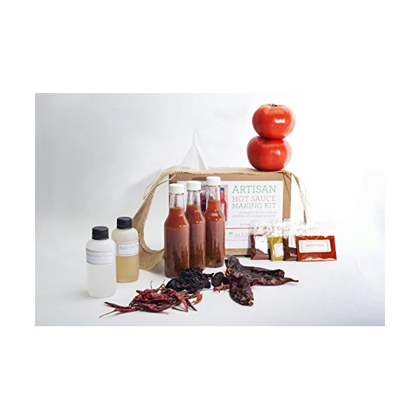 Artisan Hot Sauce Making Kit - Includes everything needed to make 3 sauces