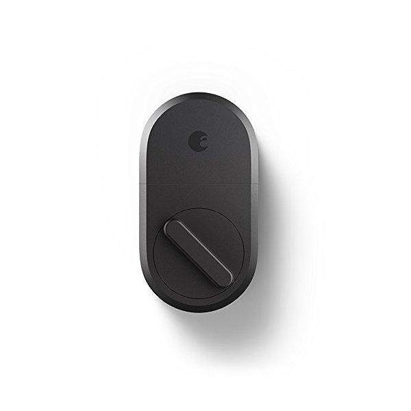 August Smart Lock, 3rd Gen Technology - Dark Gray, Works with Alexa