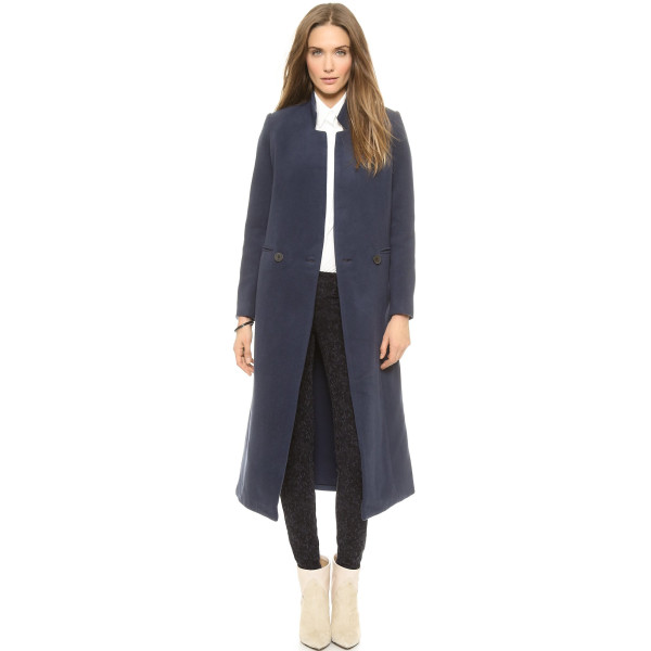 Apiece Apart Women's Esta Long Double Breasted Coat