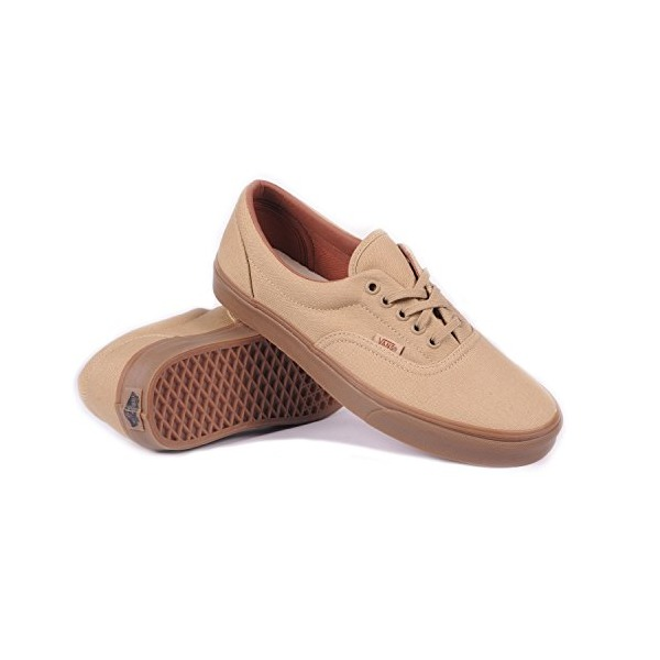 Vans Era (Gumsole Khaki/Medium Gum) Men's Skate Shoes-13