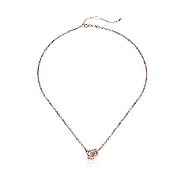 Fossil Heritage Rose Gold Knots Pendant Necklace
