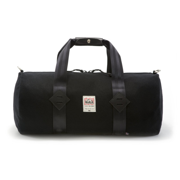 Woolrich Made in USA Wool Duffle Bag, Black