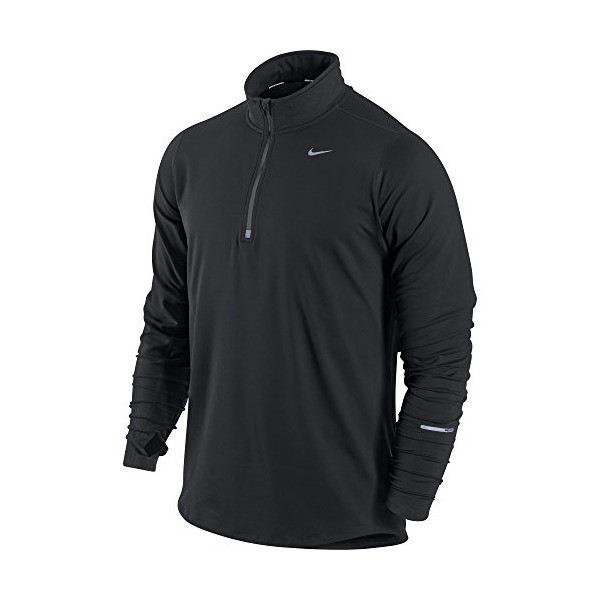 Nike Men's Element Half Zip Running Top, Black/Black, L