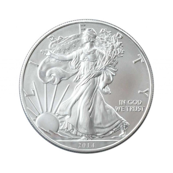 2014 1 oz American Silver Eagles Coin Brilliant Uncirculated Bullion .999 Fine Silver Dollar