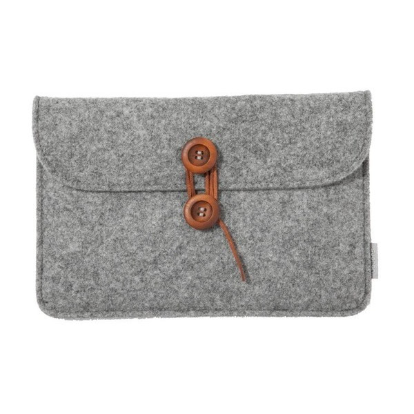 Suoran iPad Air Case with Phone Pocket, Natural Wool Felt
