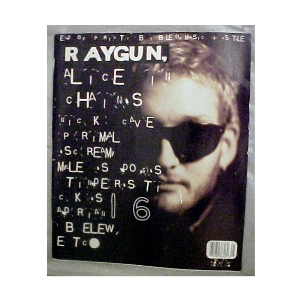 Raygun Magazine 16 May 1994 (Alice in Chains Cover, Nick Cave, Adrian Belew,, Primal Scream, Tindersticks)