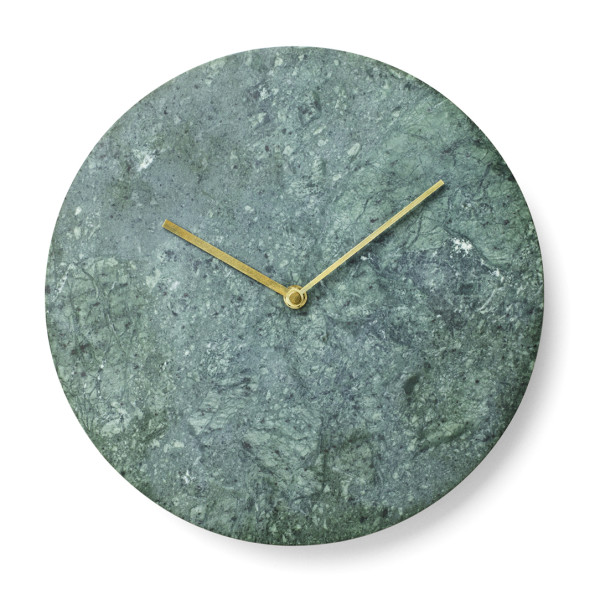 Norm Green Marble Wall Clock