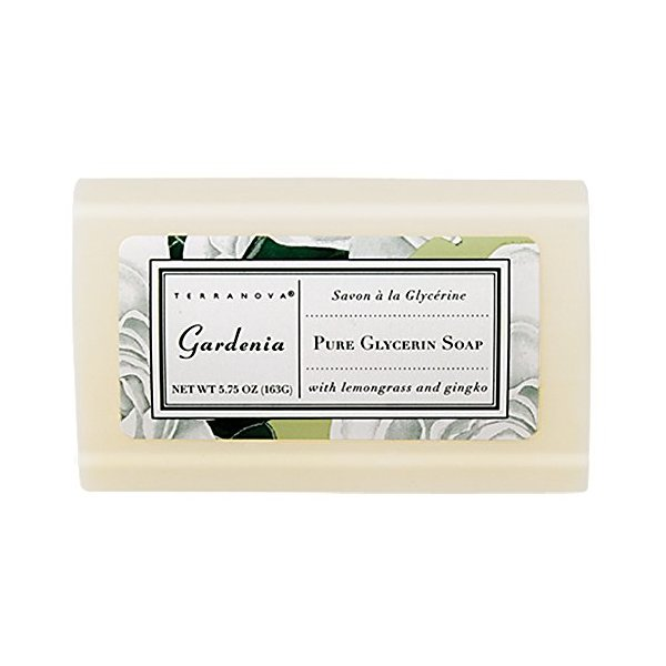 Terranova Gardenia Pure Glycerin Soap 5.75 oz Bar