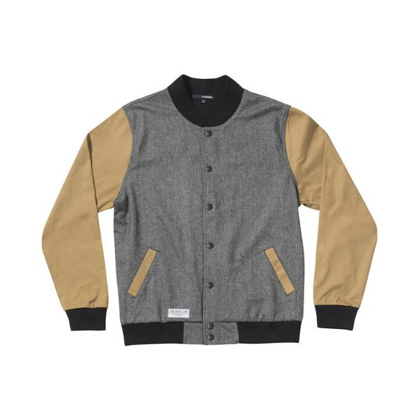 Quiet Life: Herringbone Coach's Jacket - Heather Grey / Tan (Large)