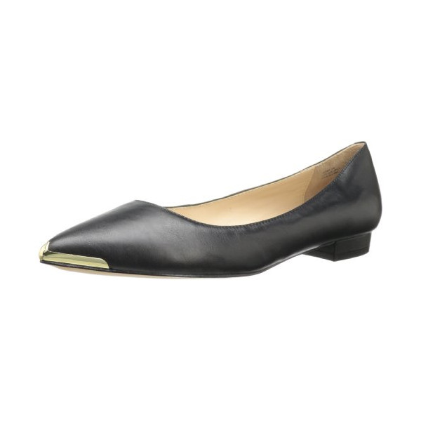 Pour La Victoire Women's Renna Ballet Flat,Black,8 M US