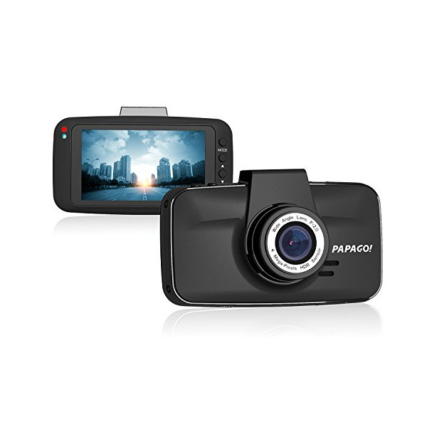 PAPAGO GS520-US GoSafe 520 Ultra WHD 2K Dashcam with 3-Inch LCD Display, HDR Superior Night Vision, Ambarella A7L Chip (Black)
