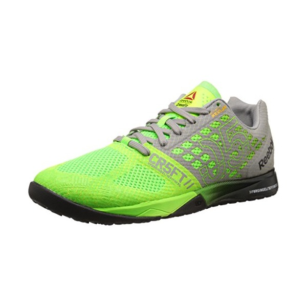 Reebok Men's Crossfit Nano 5.0 Training Shoe, Solar Green/Tin Grey/Black/Shark, 10.5 M US