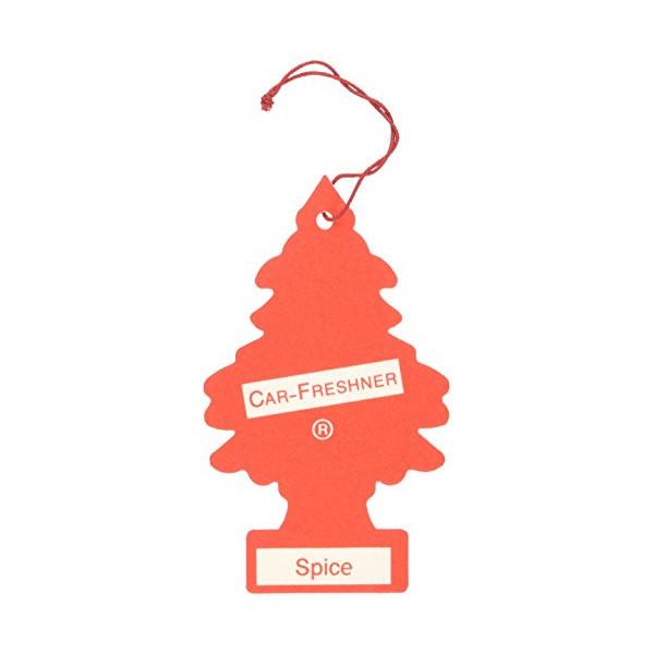 12 Pack Car Freshner 10103 Little Trees Air Freshener Spice Scent - Single Tree per Package
