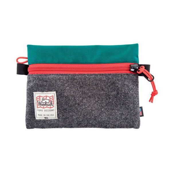 Woolrich TOPO Designs Accessory Bag, Grey/Teal