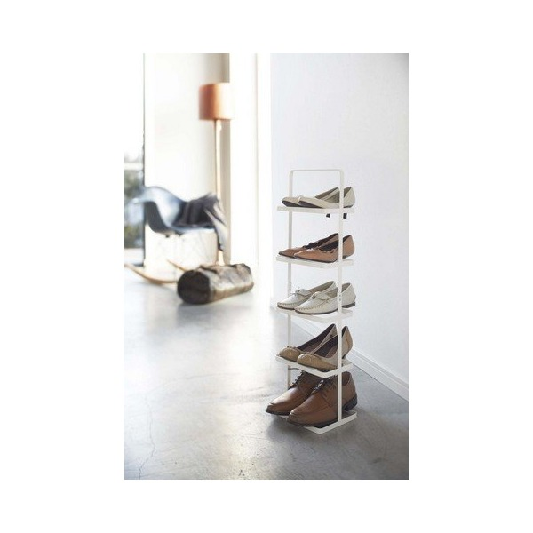 YAMAZAKI home Tower Shoe Rack, Tall, White