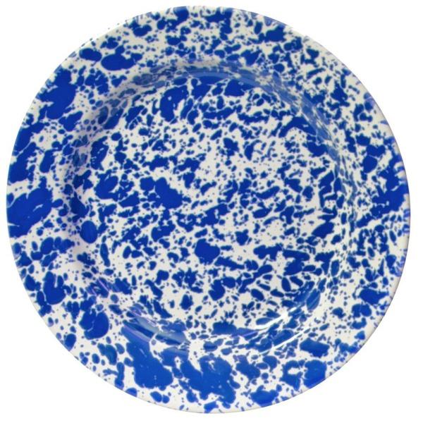 Enamelware Dinner Plate - Blue Marble