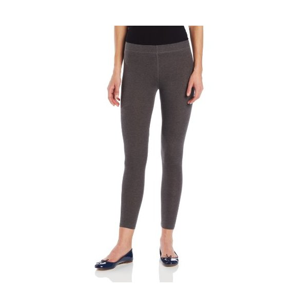 Anne Klein Women's Cotton Cut and Sew Legging, Charcoal, Medium/Large