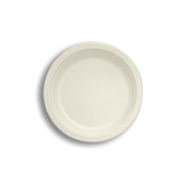 Stalkmarket 100% Compostable Sugar Cane Fiber Heavy Duty Plate
