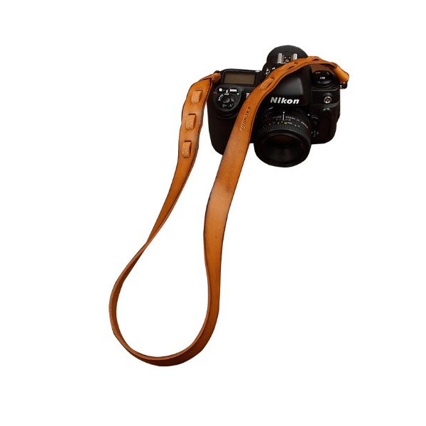 Tan Real Leather Camera Shoulder Neck Strap for SLR DSLR Rolleiflex 2403