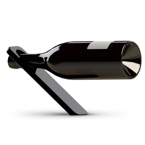 Oblique Wine Bottle Holder, Jet Black