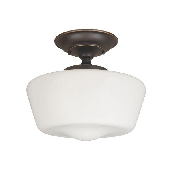 World Imports Lighting 9007-88 Luray 1-Light Semi-Flush Light Fixture, Oil Rubbed Bronze