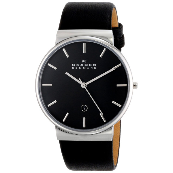 Skagen Ancher Quartz 3 Hand Date Stainless Steel Watch