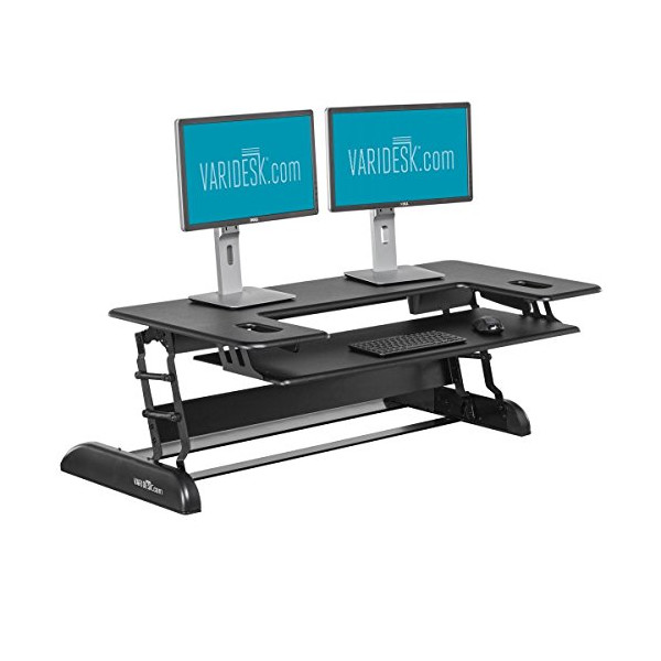 Height-Adjustable Standing Desk for Cubicles - VARIDESK Cube Plus 48 - Black