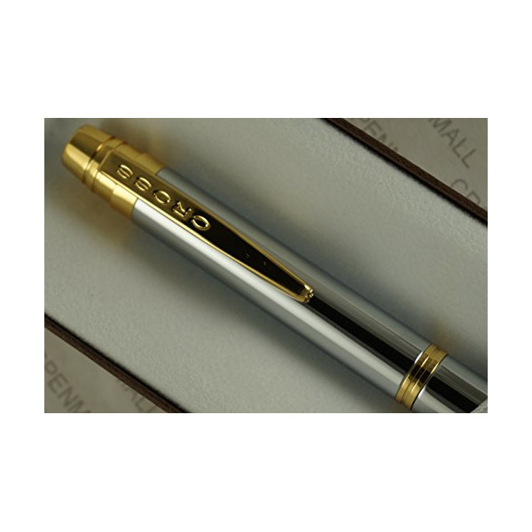 Cross Classic Helios Medalist with 23KT Gold Appointments and Cross Signature Gold mid ring Ballpoint Pen. A Great Gift to Anyone