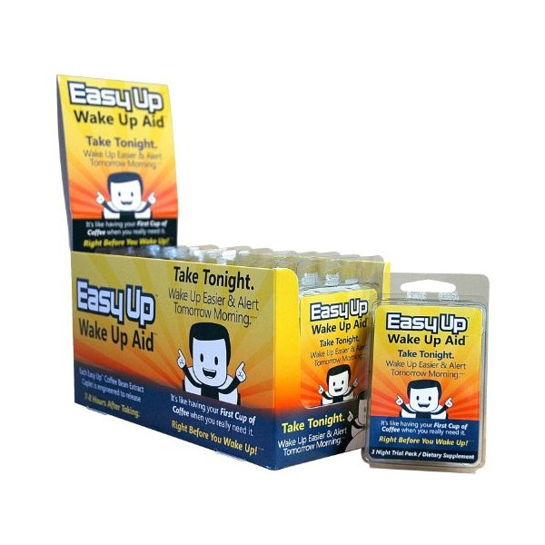 Easy Up® Wake Up Aid - Take Tonight. Wake Up Easier & Alert Tomorrow Morning - 36 Night Supply