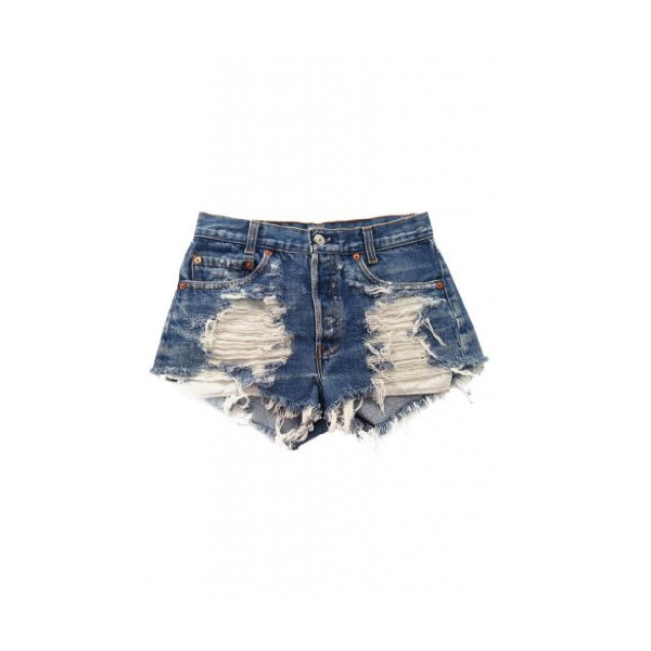 Urban Eclectics Women's Vintage Levi's Distressed Stone Dreamer Shorts-Denim-XS