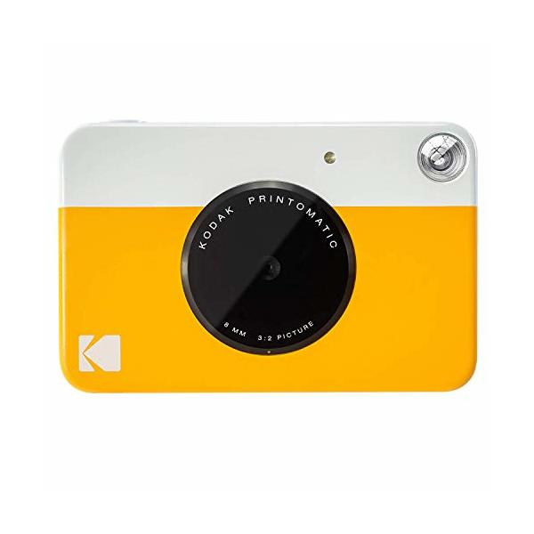 "Kodak PRINTOMATIC Digital Instant Print Camera (Yellow), Full Color Prints On ZINK 2x3"" Sticky-Backed Photo Paper - Print Memories Instantly"