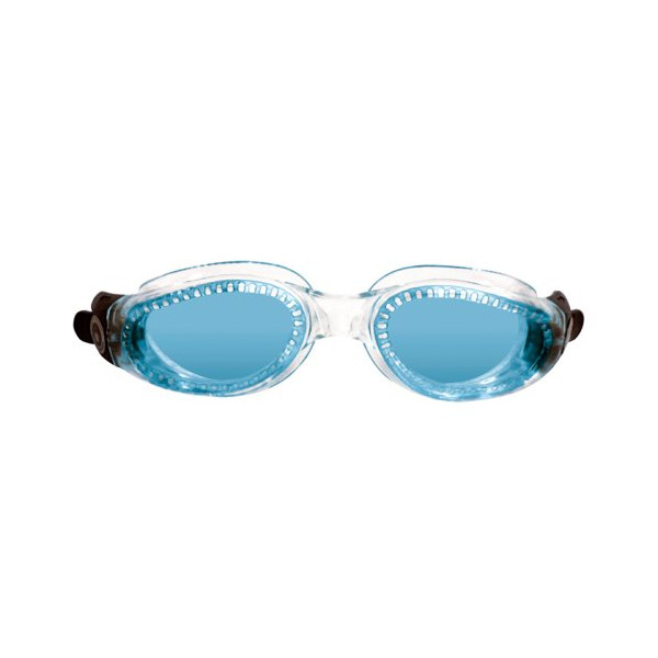 Aqua Sphere Kaiman Swim Goggle (Small, Blue Lens/Transparent Frame)