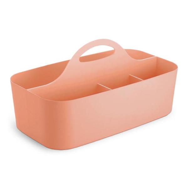 InterDesign Clarity Bath Tote, Small, Coral