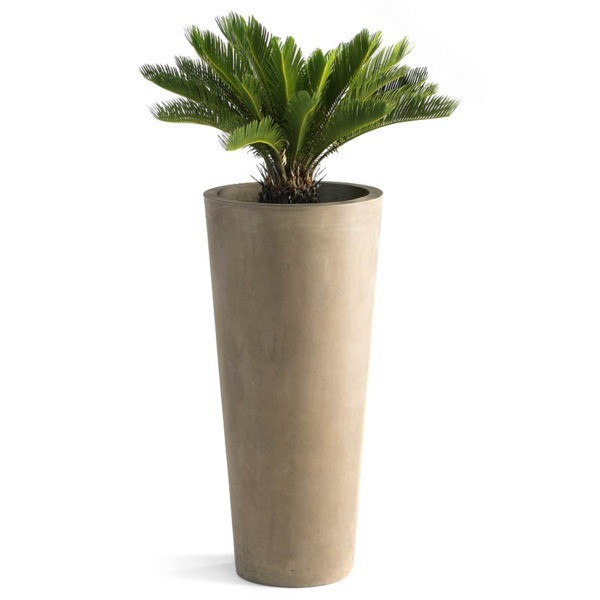 Cyan Design Small Cylinder Fiber Clay Planter