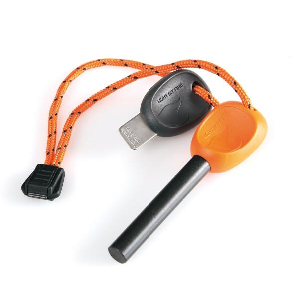 Light My Fire Swedish FireSteel 2.0 Army 12,000 Strike Fire Starter with Emergency Whistle - Orange