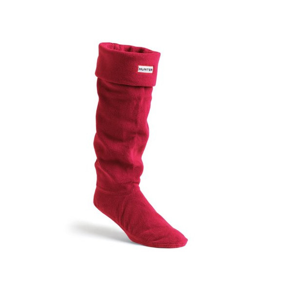 Hunter Fleece Red Womens Welly Socks Size 5-7 US