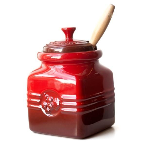 Le Creuset Stoneware 15-Ounce Berry Jam Jar, Cherry