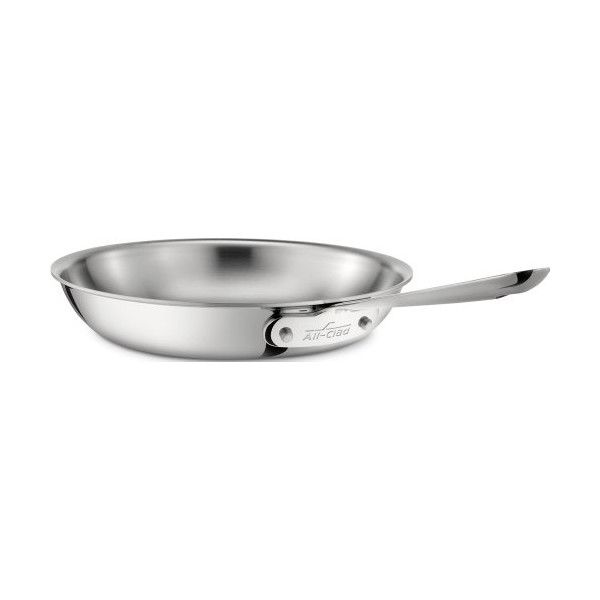 All-Clad 4110 Stainless Steel Tri-Ply Bonded Dishwasher Safe 10-Inch Fry Pan Cookware, Silver