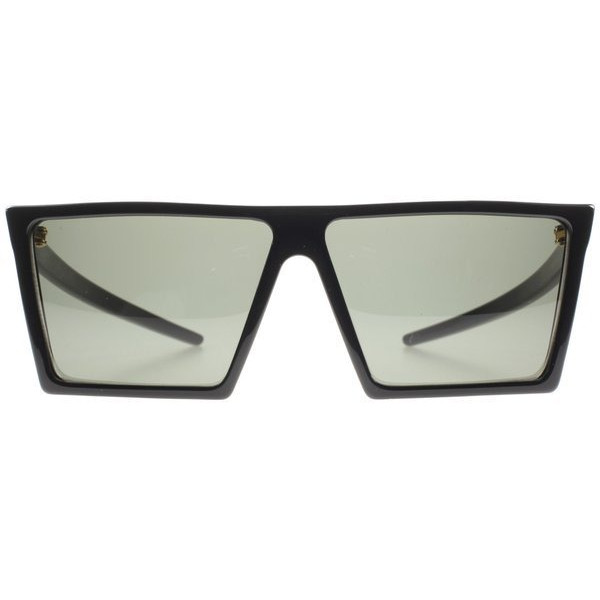 Retro Super Future 298 Black W Square Sunglasses