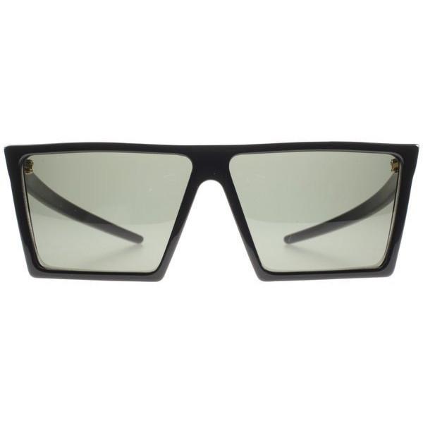 Retro Super Future 298 Black W Square Sunglasses