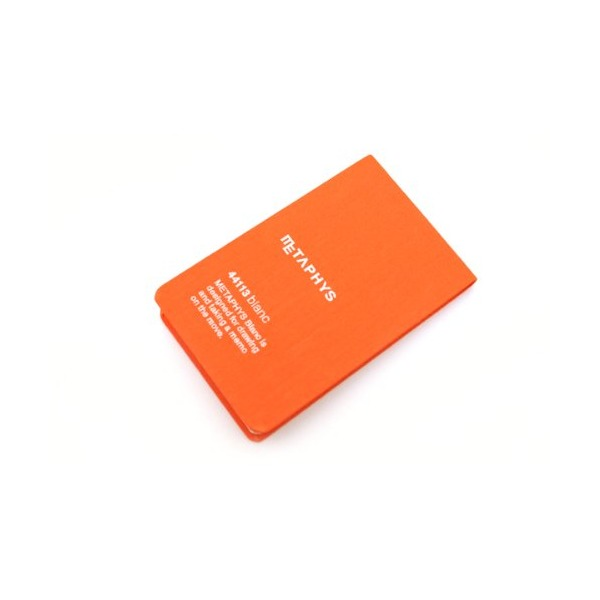 "Metaphys Blanc Fabric Cover Memo Pad - 2.6"" X 4.1"" - Orange"