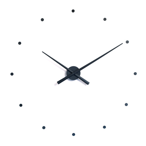 Wall Clock OJ Black 31.5""