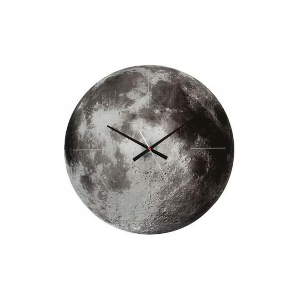 Present Time Karlsson Moon Glass Wall Clock